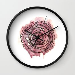 english pen rose Wall Clock