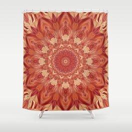 Mandala Flower red Shower Curtain