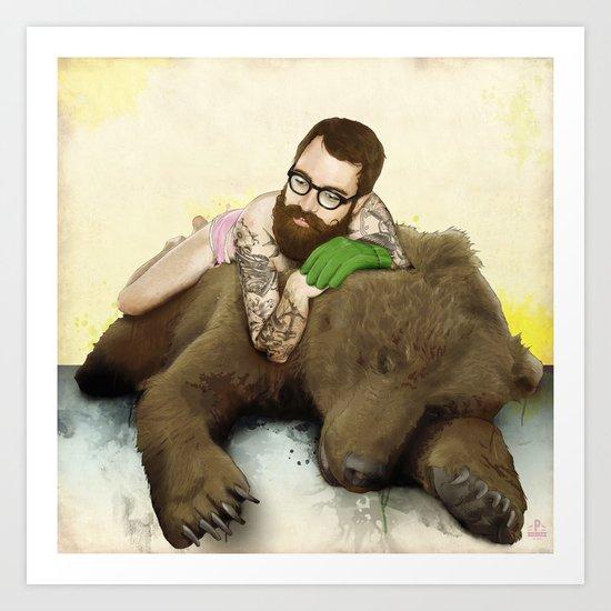 The Hug Art Print