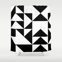 yin yang Shower Curtains featuring Yin Yang by Jar Lean