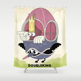 DOUBLE KING: Ovum Regia Shower Curtain