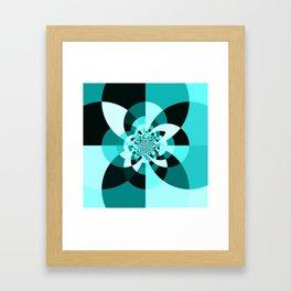 Aqua Kaleidscope Framed Art Print