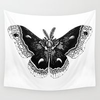 moth Wall Tapestries featuring Moth by Hanna Made