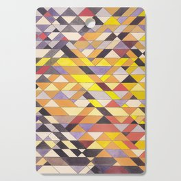 Triangle Pattern No.8 Black and Yellow Cutting Board
