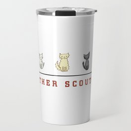 Five Cats All in a Row - Panther Scouts Characters Travel Mug