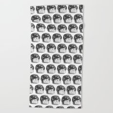 Minifigure Pattern Beach Towel