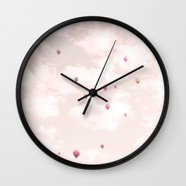 Hot Air Balloons, Violet Wall Clock