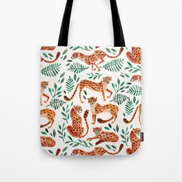 Cheetah Collection – Orange & Green Palette Tote Bag