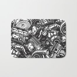 Automobile car parts pattern Bath Mat
