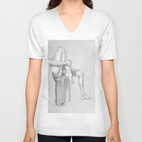 legs V-neck T-shirts featuring Legs by Creo