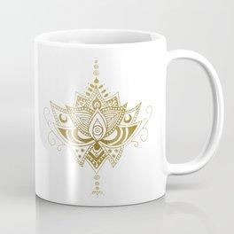 Gold Lotus Coffee Mug