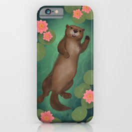 swimming otter iPhone Case