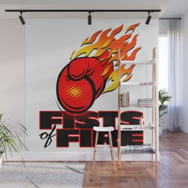 Fists Of Fire Wall Mural