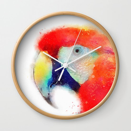 The Articulate - Parrot Wall Clock