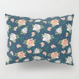 Roses. Blue pattern Pillow Sham
