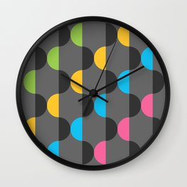 Half Pucks Wall Clock