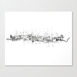 Urban Architecture Handcrafting Canvas Print