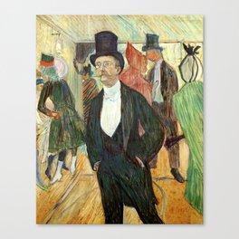 """Henri de Toulouse-Lautrec """"Monsieur Henri Fourcade au Bal de l'Opéra"""" Canvas Print"""