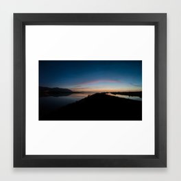 Blennerville bay 3am sunday morning. Framed Art Print