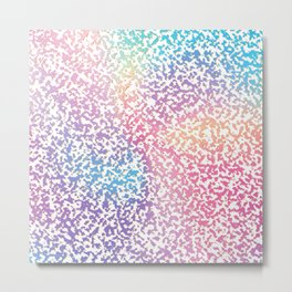 Abstract lavender pink ombre modern pattern Metal Print