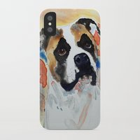 boxer iPhone & iPod Cases featuring Boxer by Bowles Fine Paintings