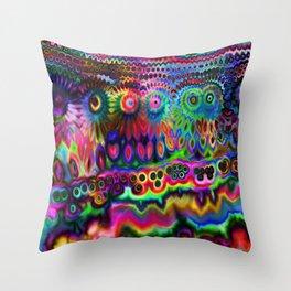 Chromatic Rainbow Warp Throw Pillow