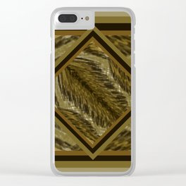 Feather Weave DPA170105a Clear iPhone Case
