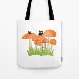 Mushroom Climbers Tote Bag