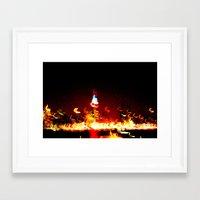 manhattan Framed Art Prints featuring Manhattan by Rochana Dubey