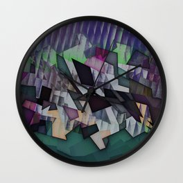 Storm over the country Wall Clock