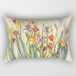 Spring Medley Flowers Rectangular Pillow