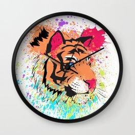 SPLASH OF TIGER. Wall Clock