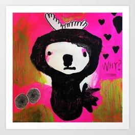 Why fall in love? Art Print