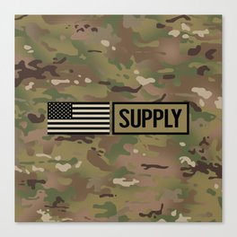 Supply (Camo) Canvas Print
