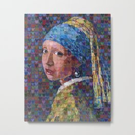 "I ""Heart"" Girl With A Pearl Earring Metal Print"