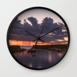 Rainy Lanescove Sunset Wall Clock