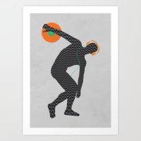 paramore Art Prints featuring Vinylbolus by Sitchko Igor