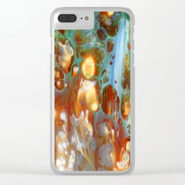 Amber River Lava Lace Flow Clear iPhone Case