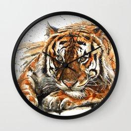 Tiger watercolor Wall Clock