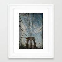 brooklyn bridge Framed Art Prints featuring Brooklyn Bridge by Jean-Pierre Ducondi