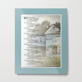 Old Homes (Poem) Metal Print