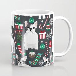 French Bulldog christmas festive stocking christmas ornaments dog breeds frenchie owner gifts Coffee Mug