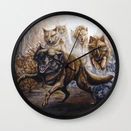 Pack of Wolves Wall Clock