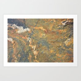 Rust coloured rocks Art Print