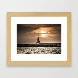 Sunset Sailing  Framed Art Print