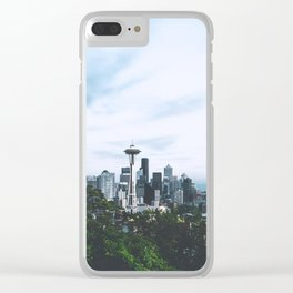 Seattle afternoon views Clear iPhone Case