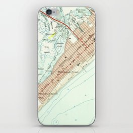 Vintage Map of Wildwood NJ (1955) iPhone Skin