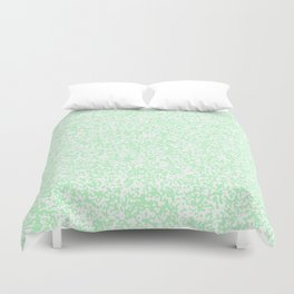 Tiny Spots - White and Mint Green Duvet Cover