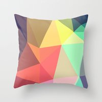 geo Throw Pillows featuring peace by contemporary