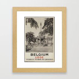 Werbeplakat Belgium Liege Framed Art Print